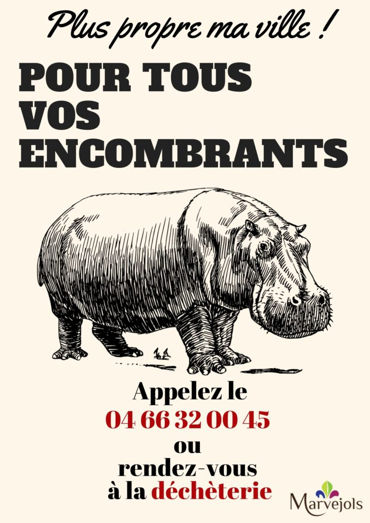 affiche encombrants hippo