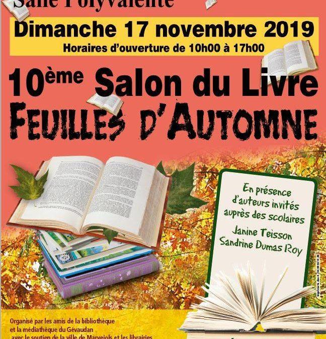 Le 10ème Salon du Livre se tient dimanche 17 novembre