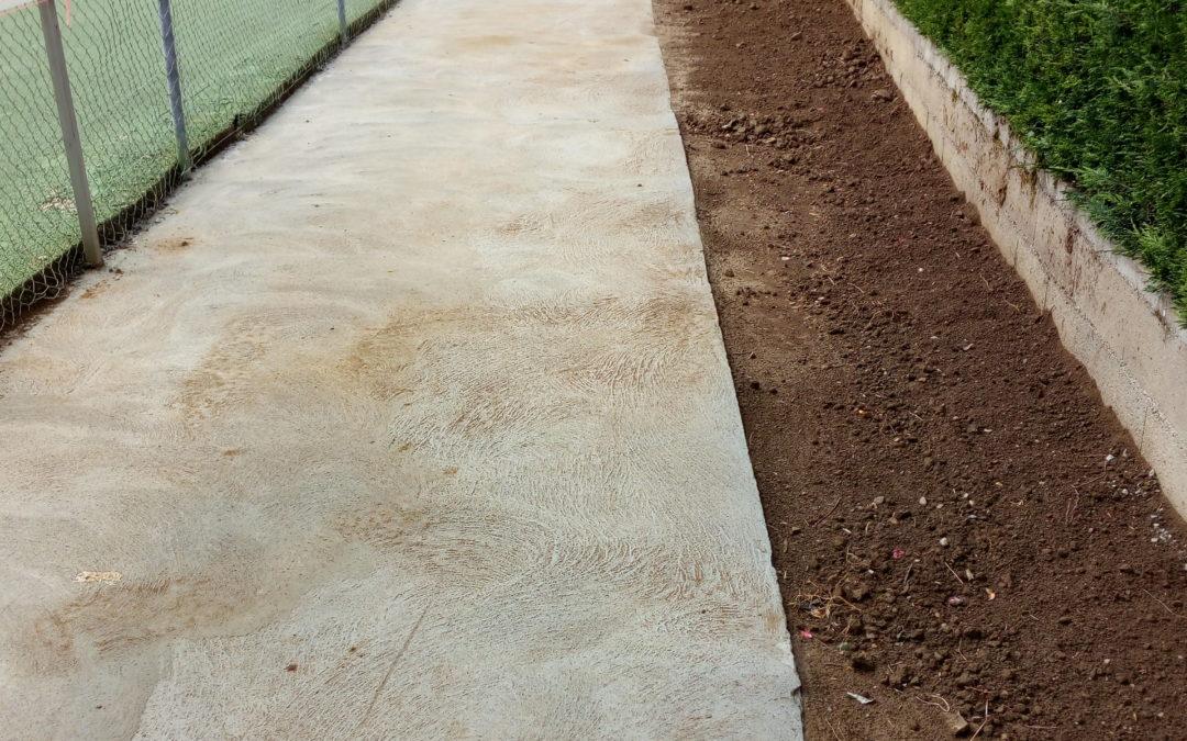 TRAVAUX : Réhabilitation du cheminement piéton des courts de Tennis