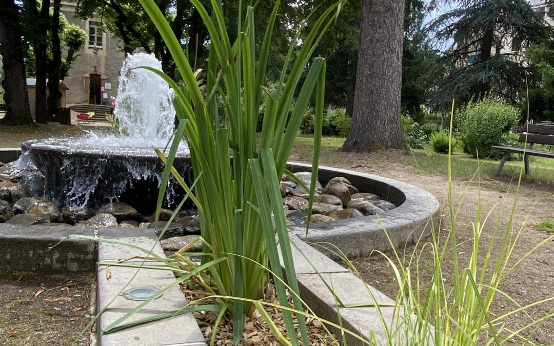 La fontaine du jardin public remise en service